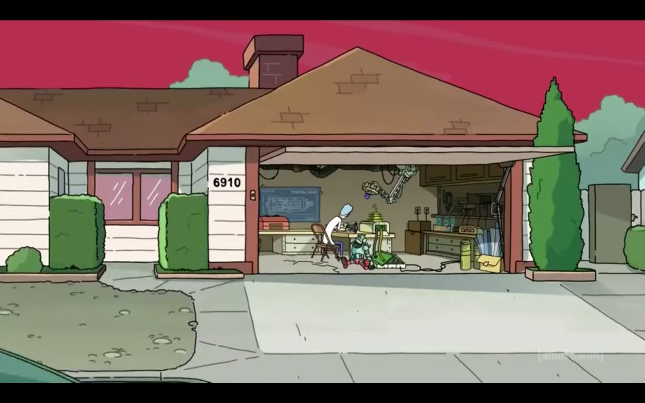 rick's house rick and morty
