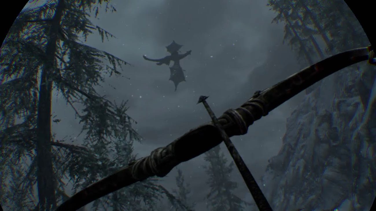 Few moments inspire fear in VR quite like random dragon attacks in 'Skyrim VR'.