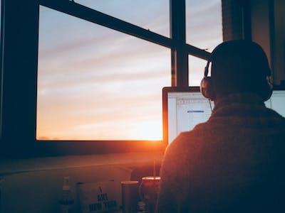 productivity i art new york sunrise sunset work man working focus hack