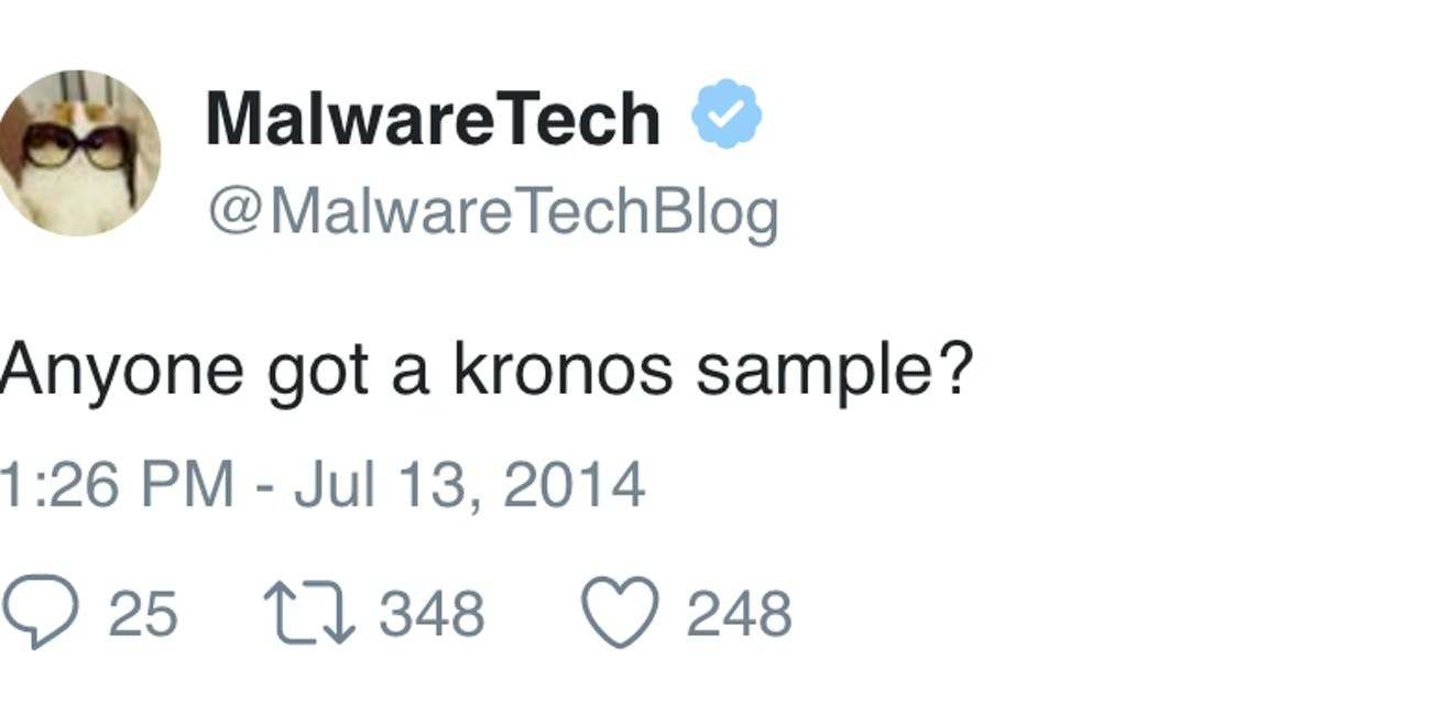 This Old Tweet Raises Questions About Marcus Hutchins' Kronos