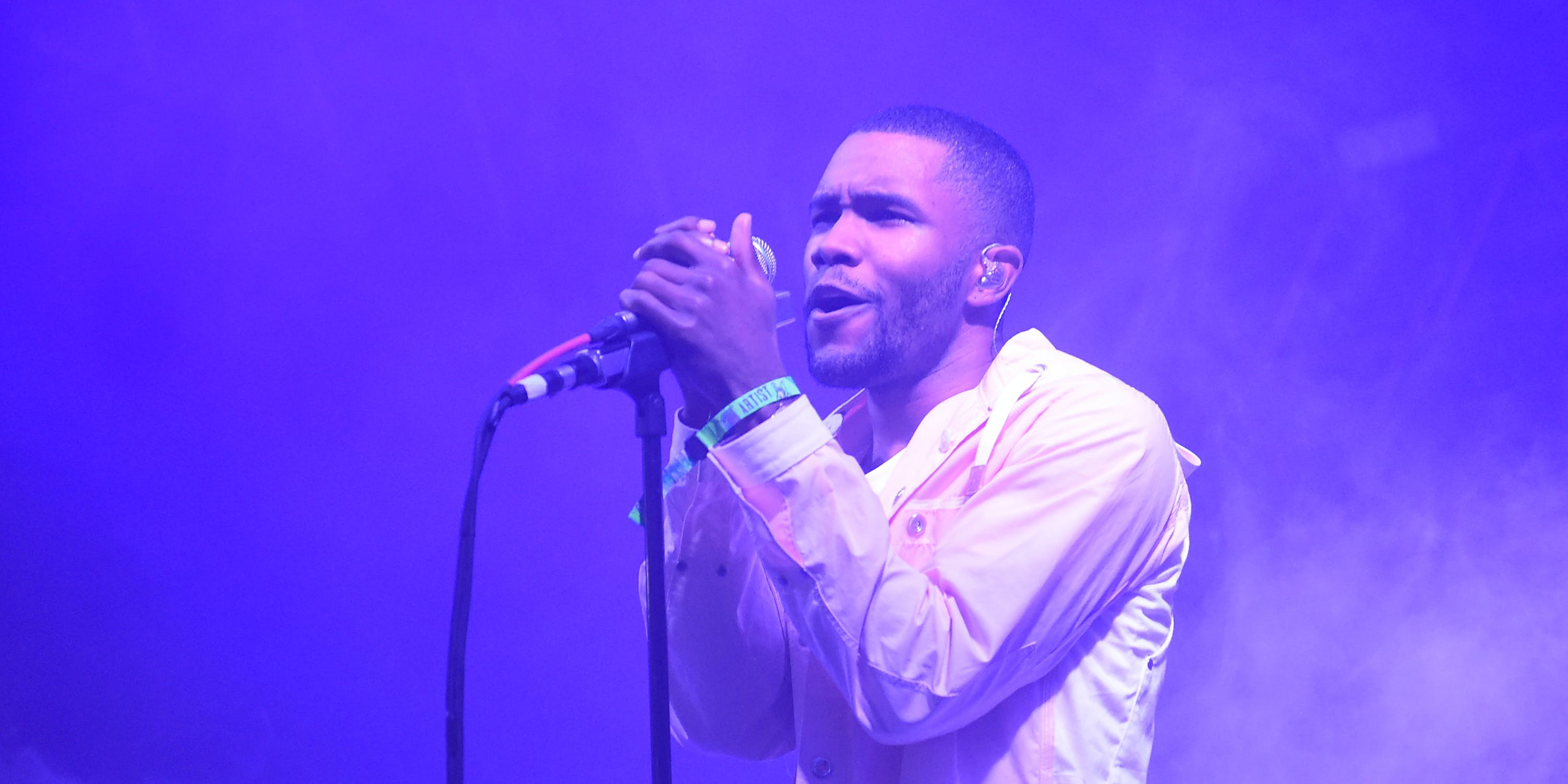 MANCHESTER, TN - JUNE 14:  Artist Frank Ocean performs during the 2014 Bonnaroo Music & Arts Festival on June 14, 2014 in Manchester, Tennessee.  (Photo by Jason Merritt/Getty Images)