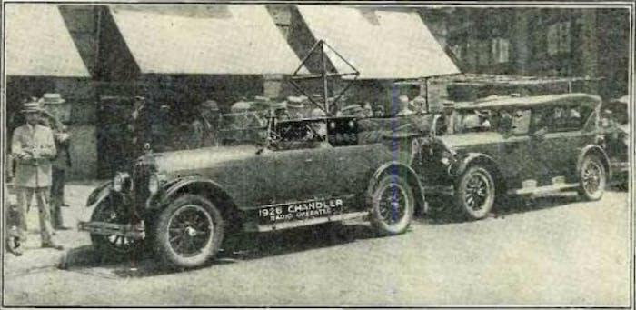 "The Houdina Radio Car circa 1925. It was dubbed ""American Wonder."""