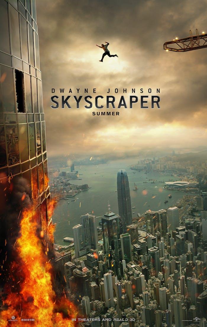 'Skyscraper' film poster.