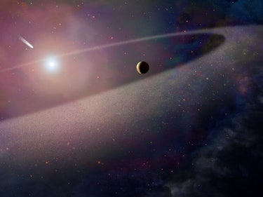 Destroyed Comet Scatters Life-Building Elements 170 Light-Years Away