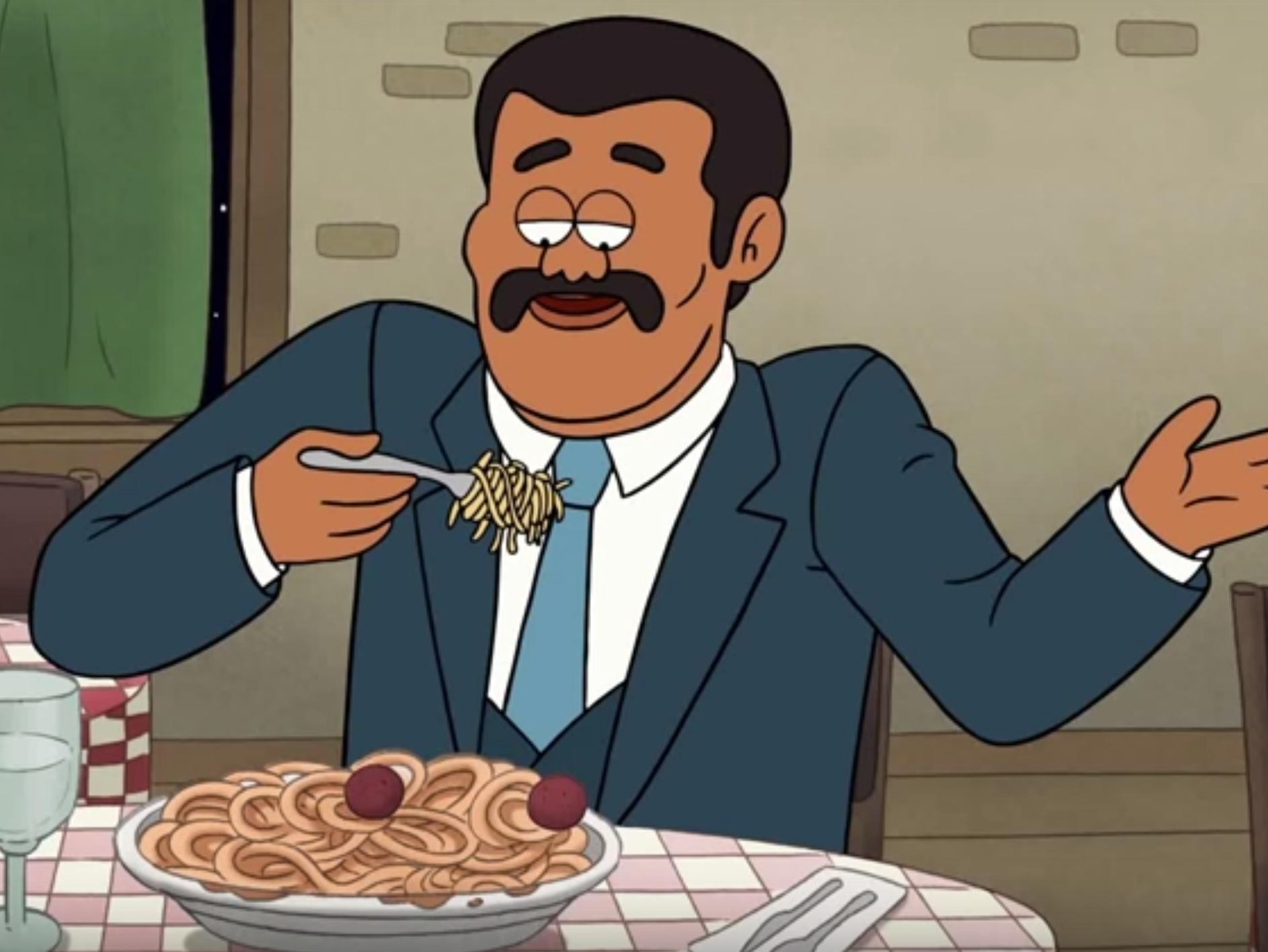 Cartoon Neil deGrasse Tyson Schools Us in Spaghettification