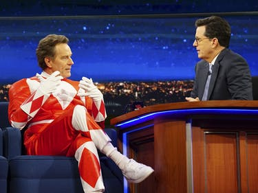 Bryan Cranston Wore a 'Power Rangers' Suit on 'The Late Show'
