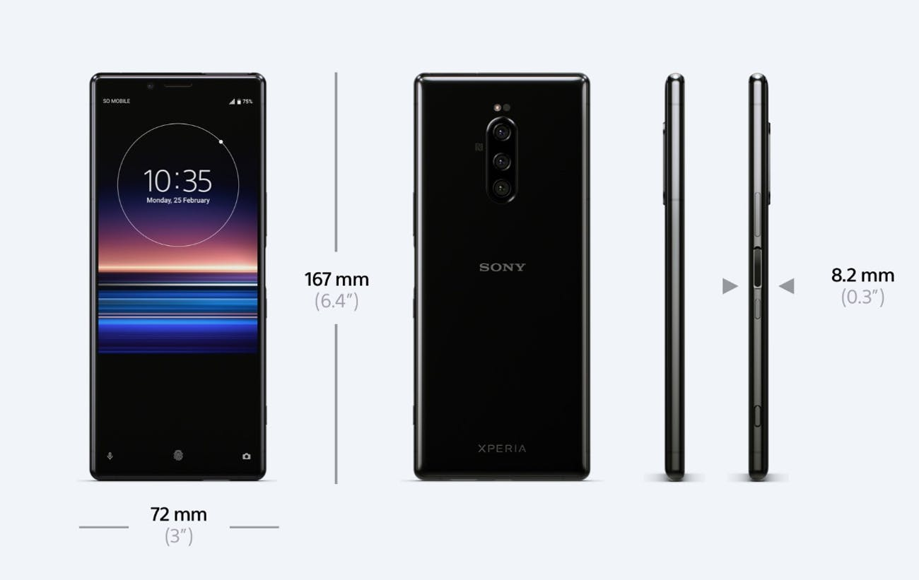 Sony Xperia 1: The World's First 4K OLED Smartphone Debuts