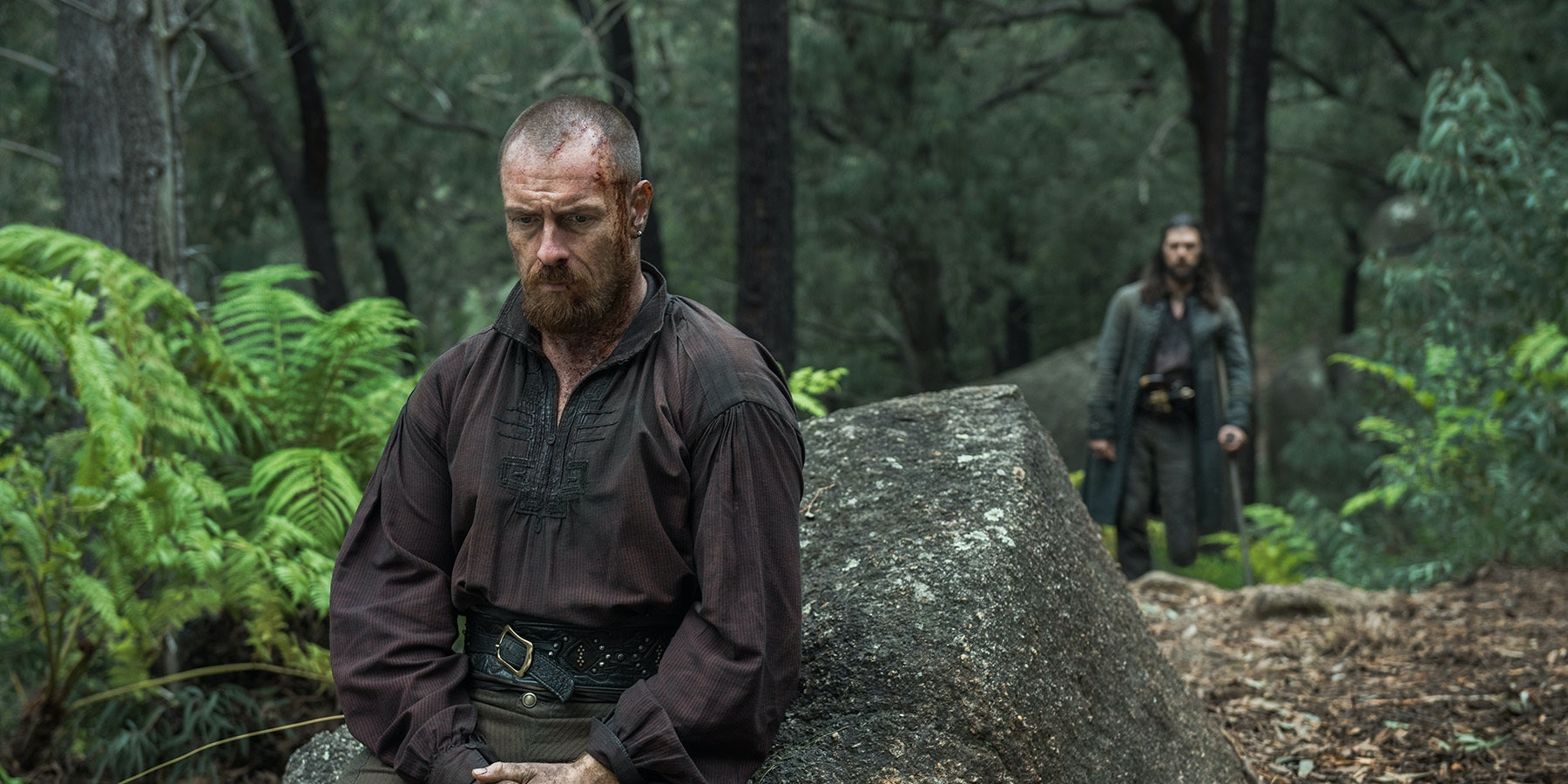 Toby Stephens as Flint and Luke Arnold as John Silver in the series finale of 'Black Sails'