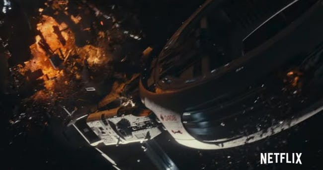 The Cloverfield Space Station gets severely damaged.