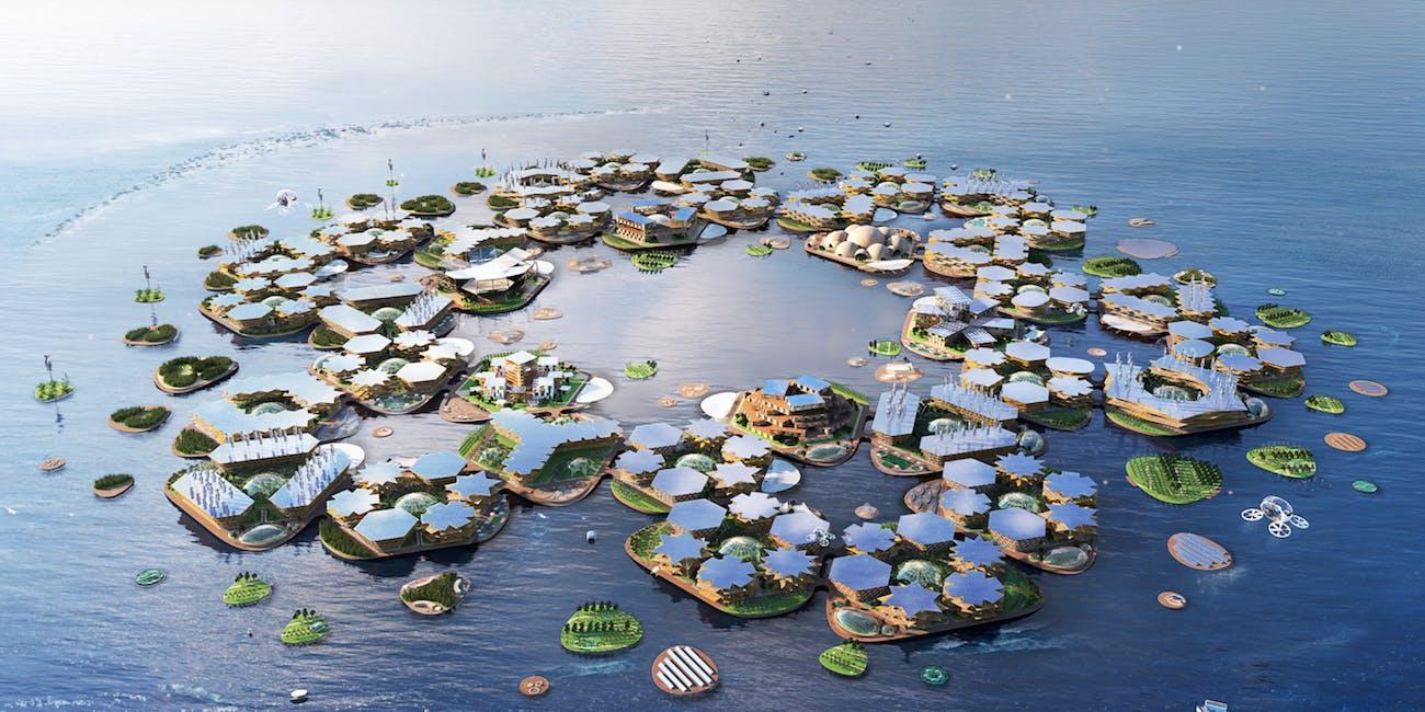 Oceanix floating islands