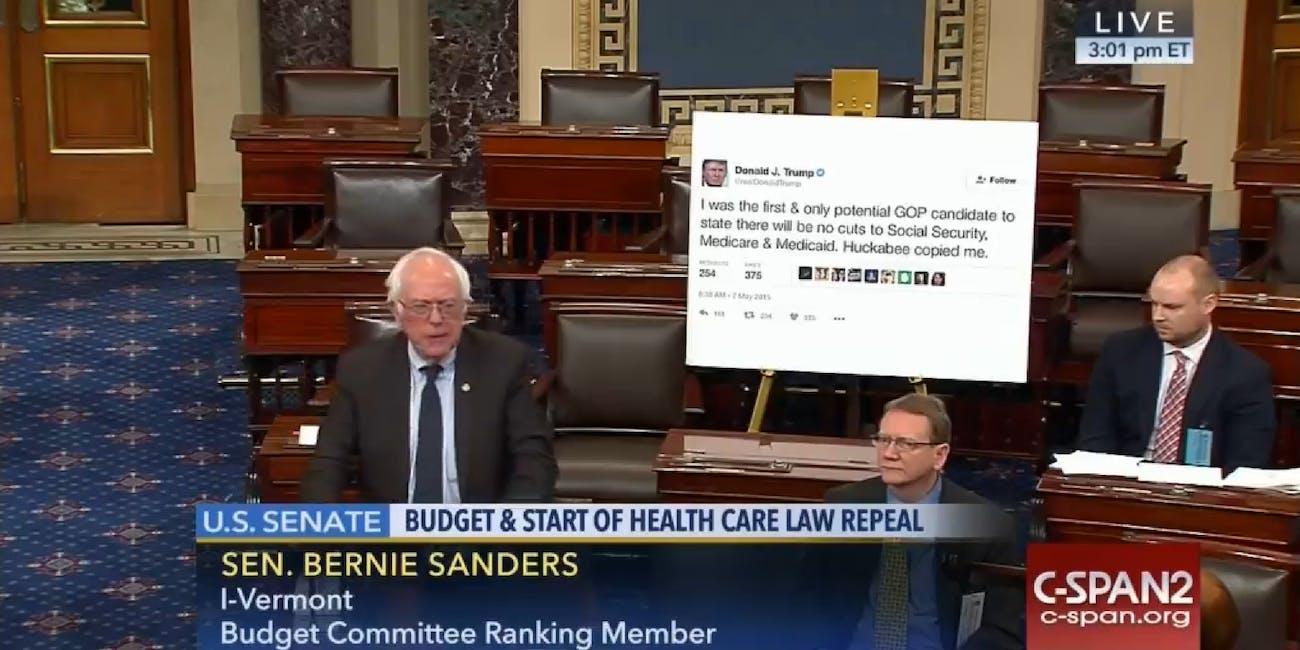 The Internet Turned Bernie Sanderss Tweet Presentation Into A Meme