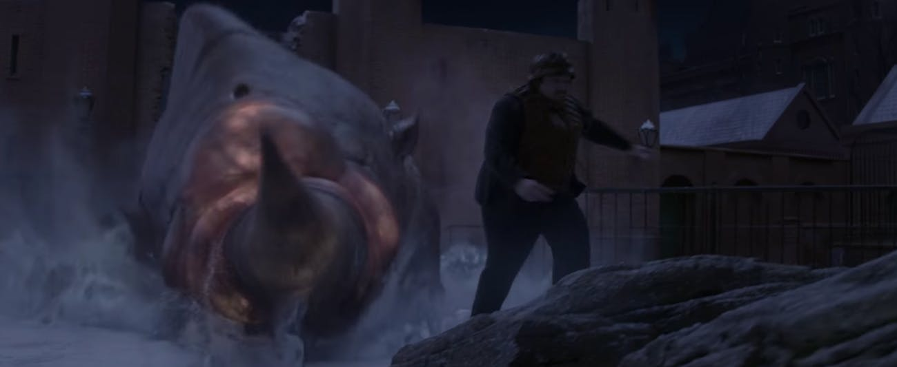 The Erumpent in 'Fantastic Beasts and Where to Find Them'