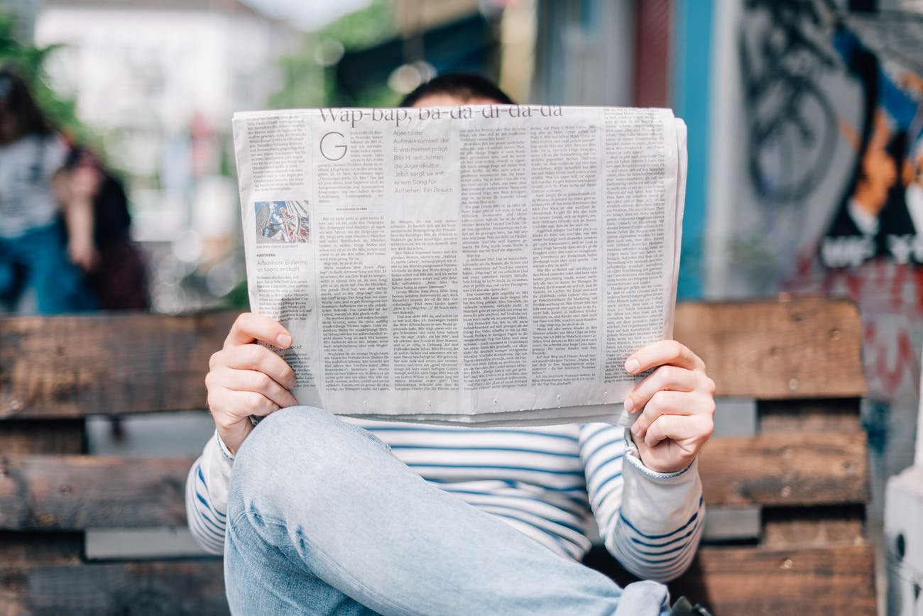 People are reading the news shown to them by friends on Facebook.
