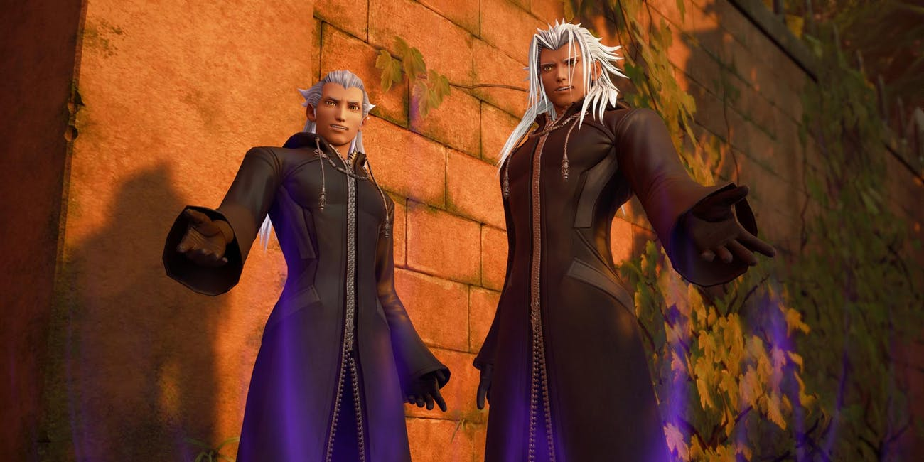 Ansem and Xemnas in 'Kingdom Hearts III'.