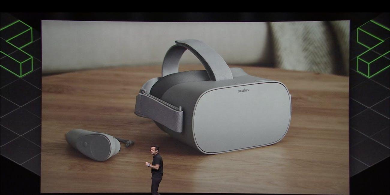 Barra unveils the Oculus Go.