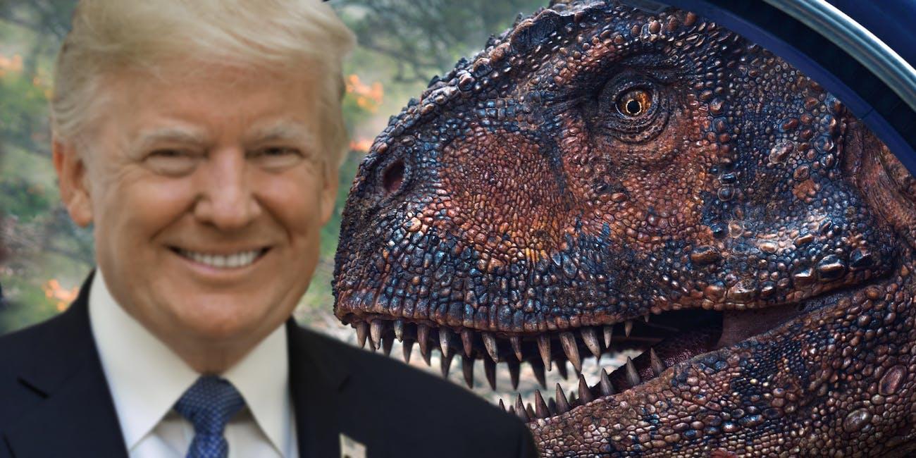 Jurassic World Donald Trump