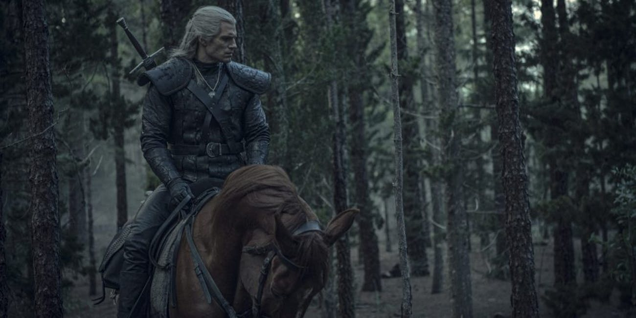 The Witcher and his horse, Roach.