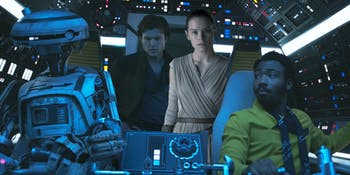 Look! It's Rey! She was right about the Kessel Run all along!