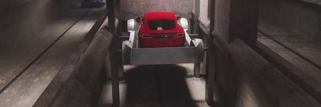 The Boring Company car elevator