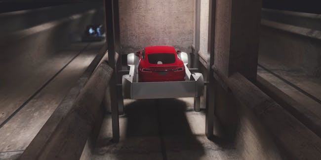 The Boring Company car elevator