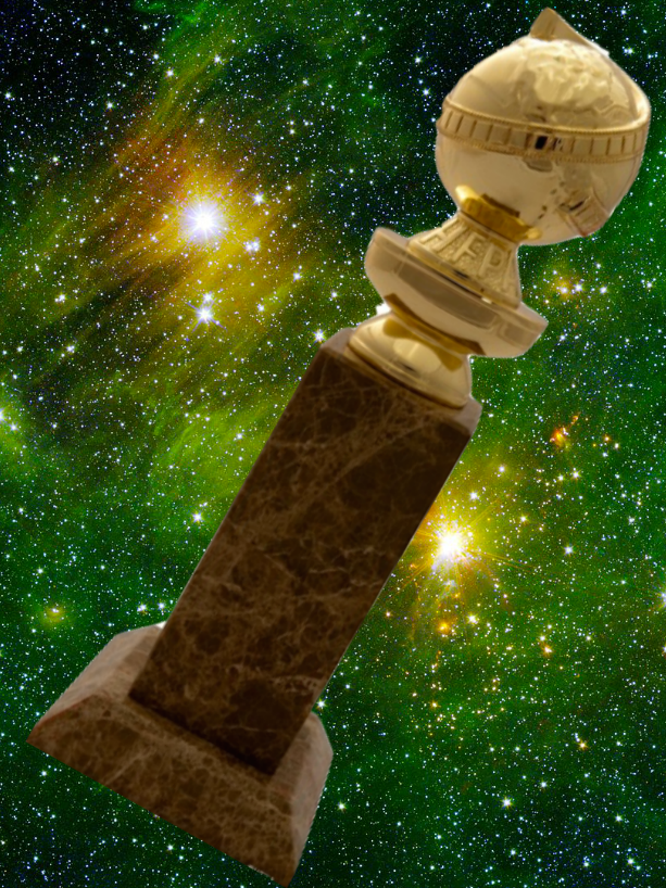 Golden globes are just awards, not planets.