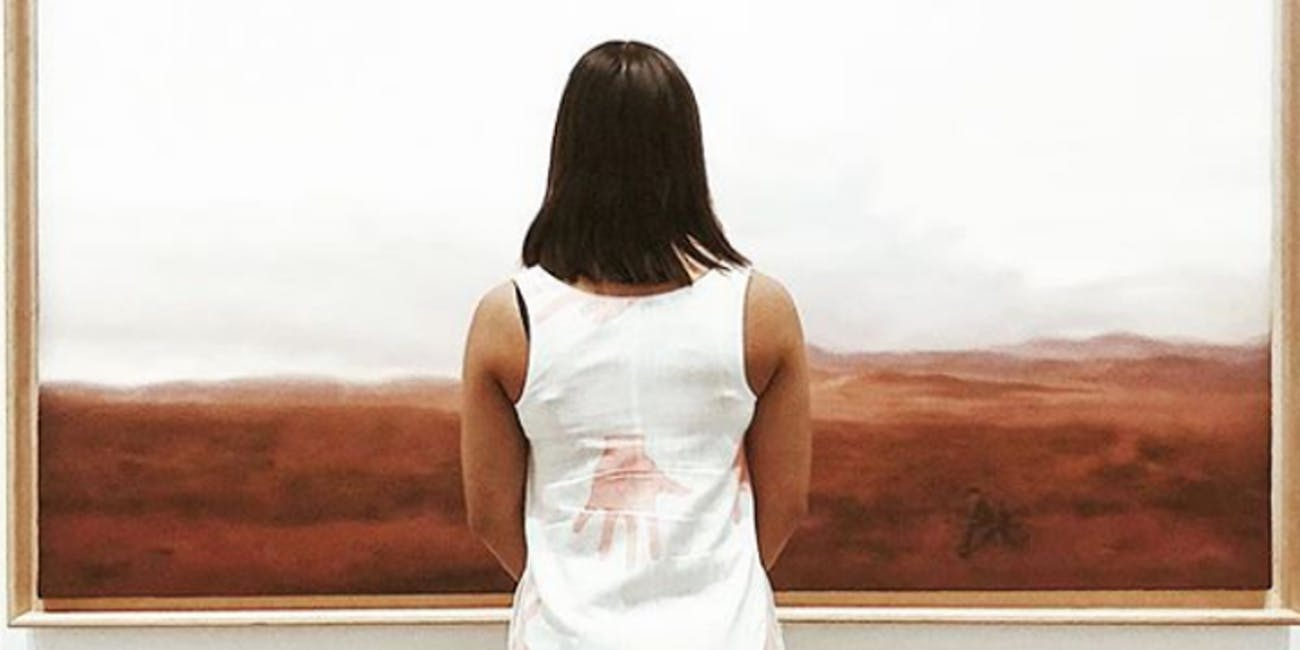 An Instagram post from Gerhard Richter's exhibition at the Queensland Gallery of Modern Art.