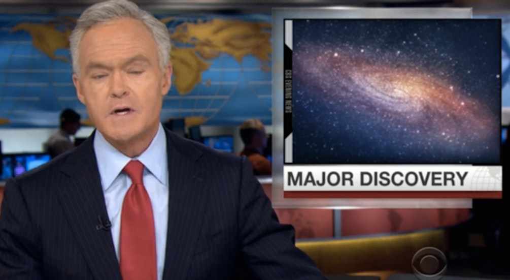 Discovery of Gravitational Waves Gets 1 Minute, 41 Seconds of Time on Evening News