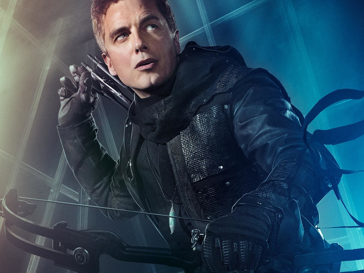 John Barrowman as Malcolm Merlyn in 'The Dark Archer'