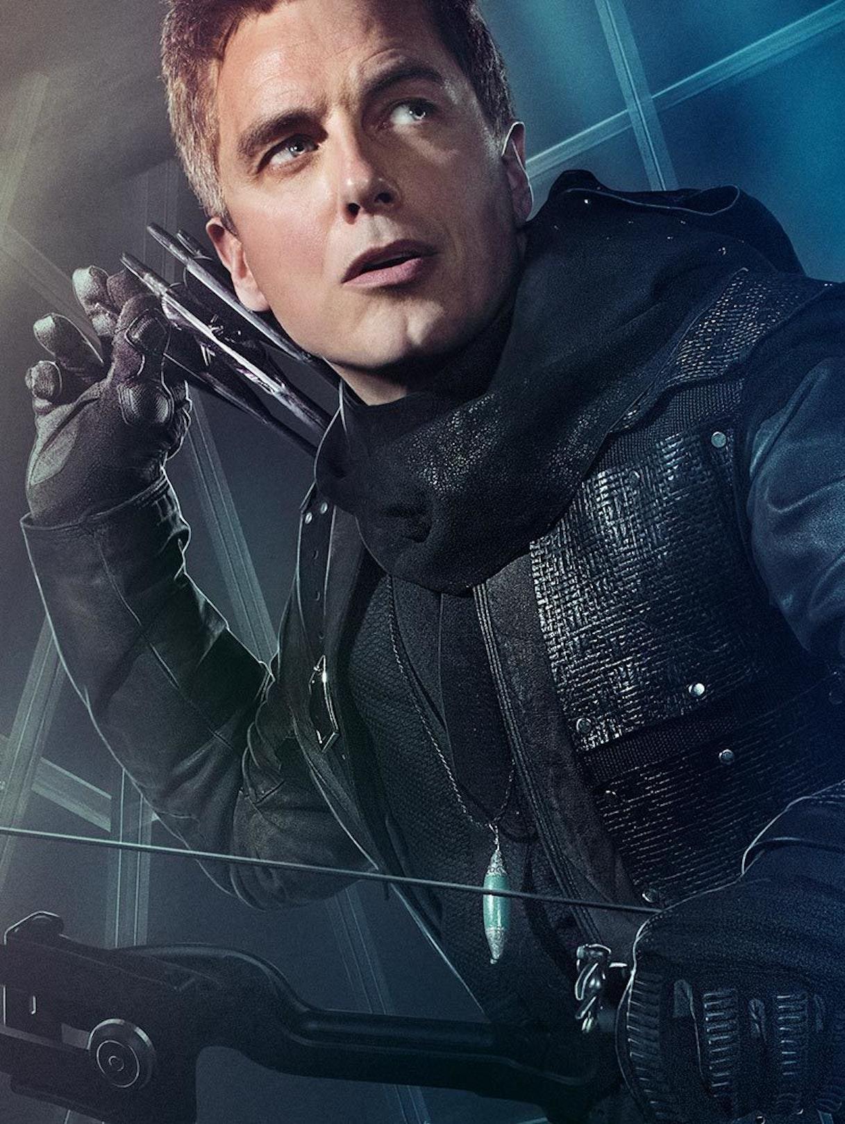 John Barrowman as Malcolm Merlyn in 'The Dark Archer'