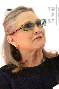 Carrie Fisher at a screening of 'Catastrophe' at the Tribeca Film Festival in April 2016.
