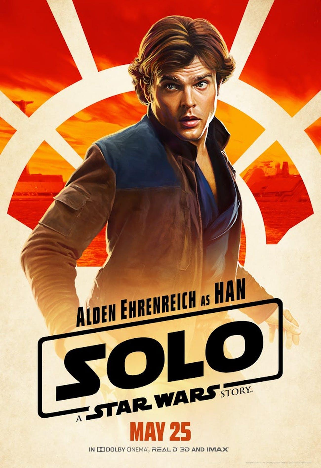Alden Ehrenreich as Han Solo in 'Solo: A Star Wars Story.'