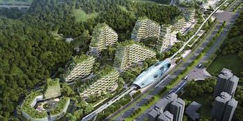 liuzhou forest city train archecture green tree ecosystem