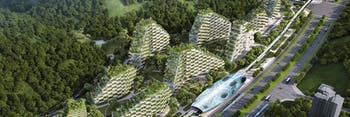 liuzhou forest city train archecture green tree ecosystem