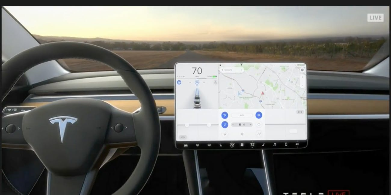 Elon Musk Says the Tesla Model 3's Interior is Built For Autonomy