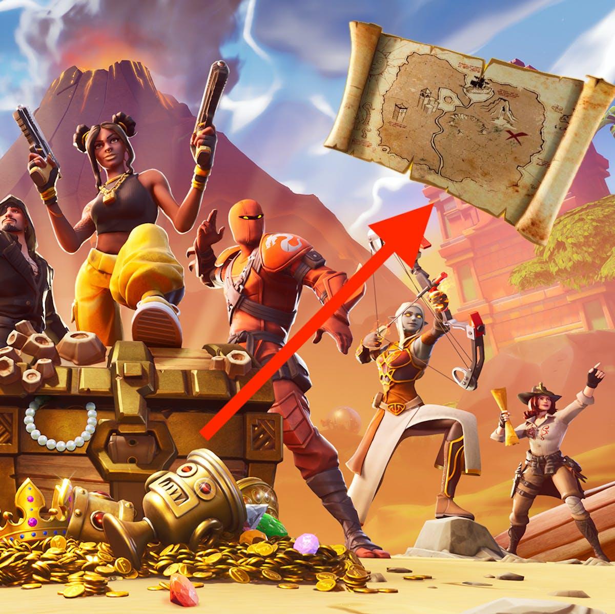 fortnite season 8 buried treasure item teases more interactive looting inverse - fortnite new treasure map item