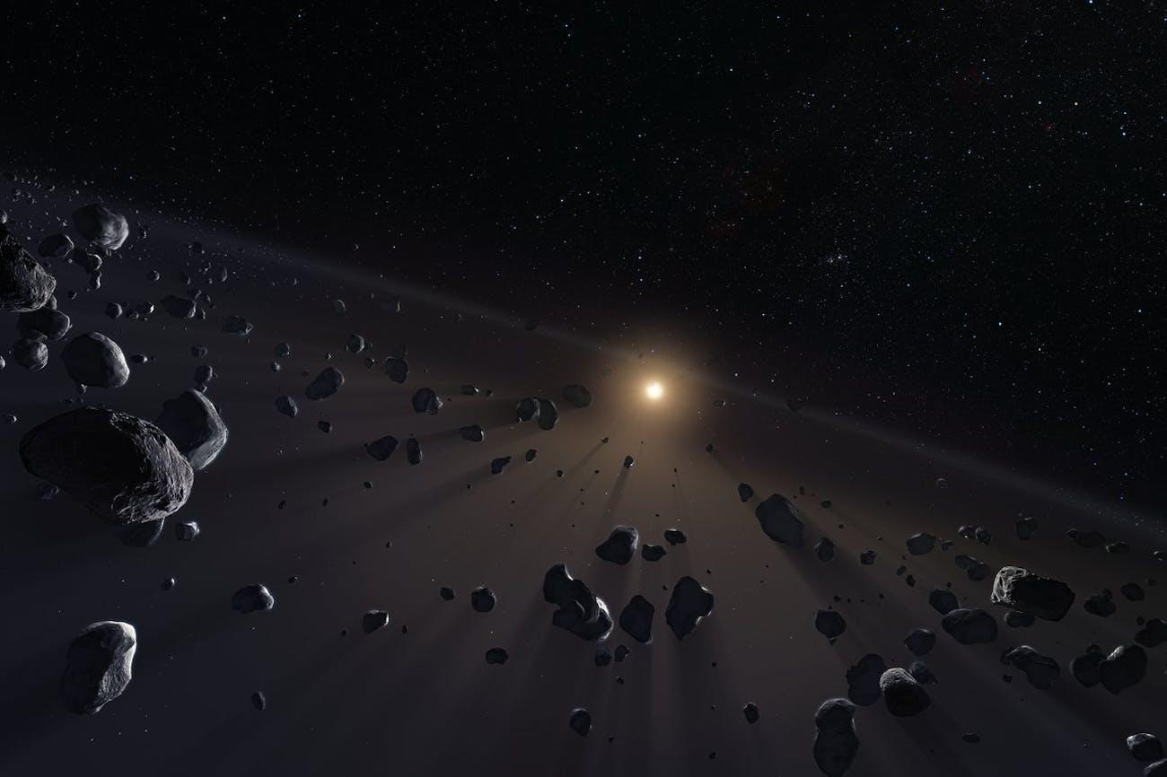 Kuiper Belt's ice cores