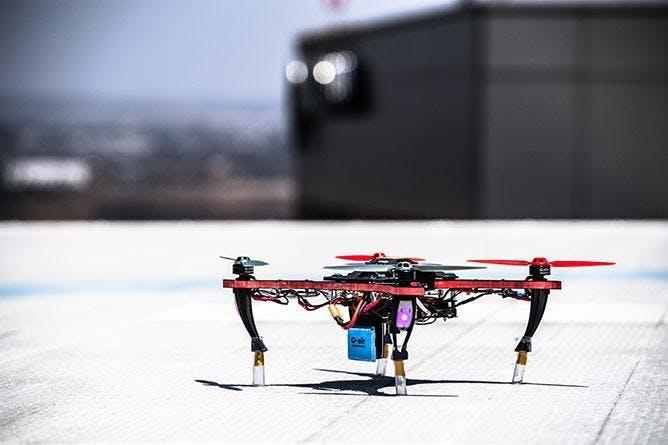 A Qualcomm Q-air drone.
