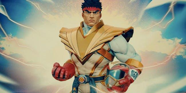 Ryu Street Fighter Power Rangers