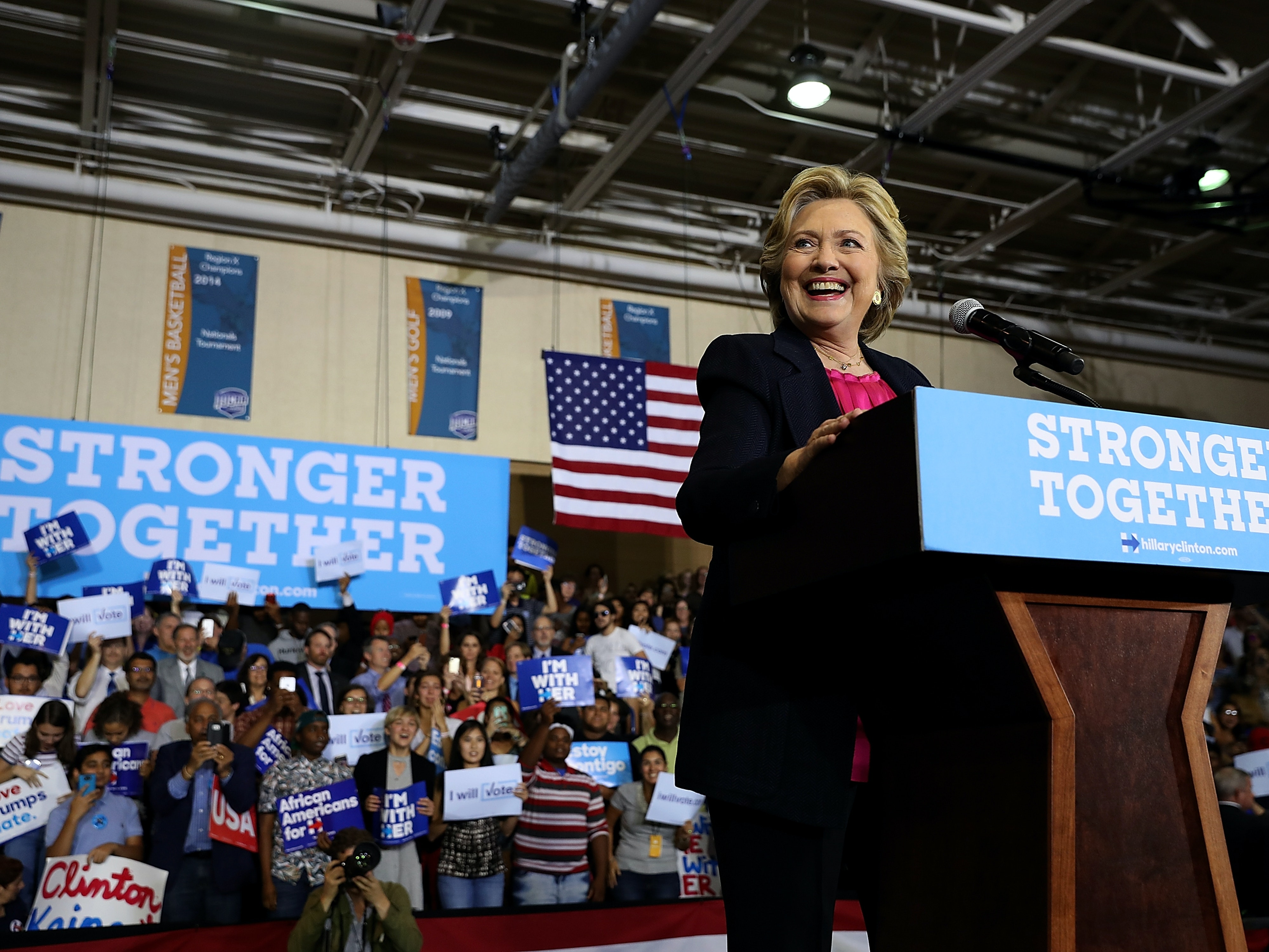 The popularity of certain cam girls in swing states point to a win for Clinton.