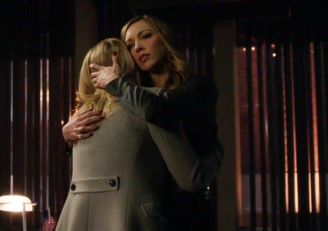 Simpler times between Oliver's ladies on 'Arrow'.