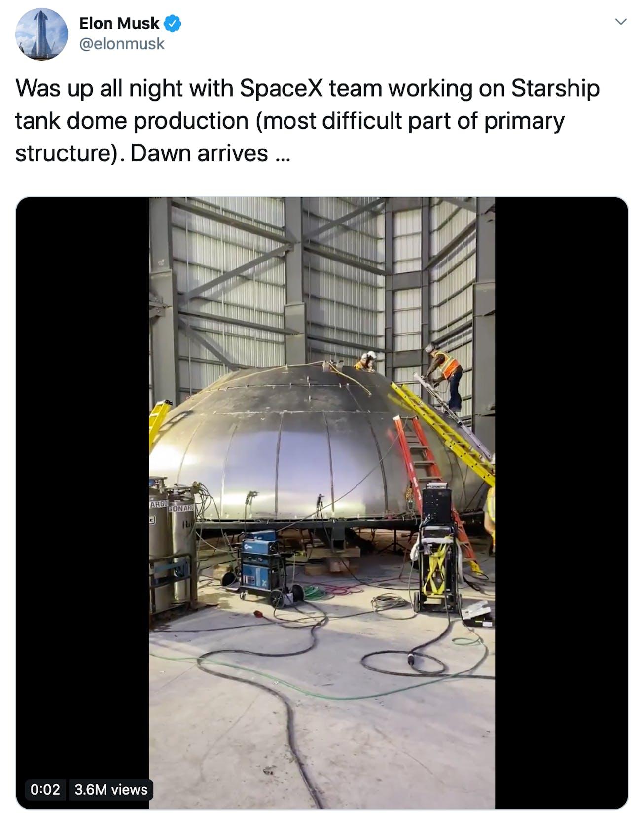 Elon Musk's work.