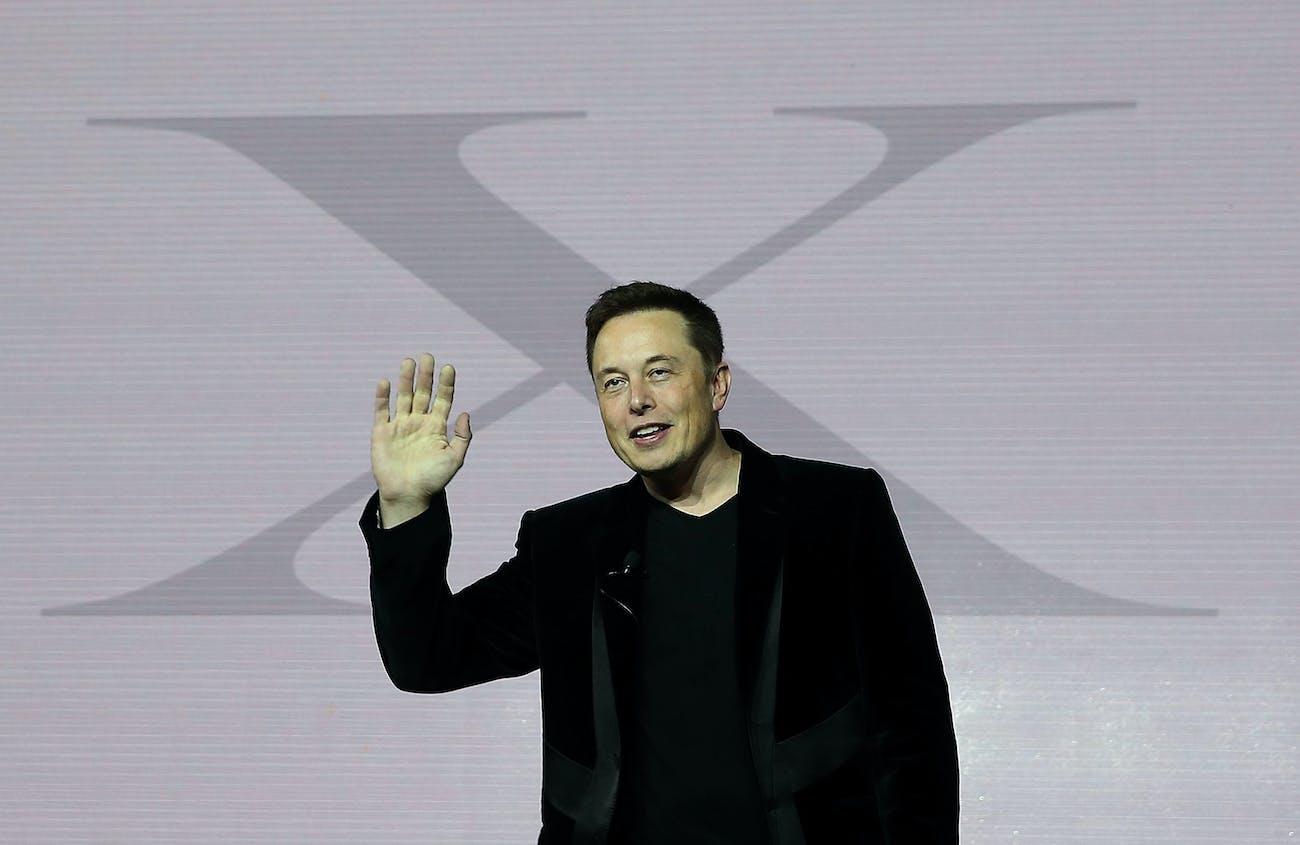 Elon Musk Wave Smile Tesla X Space