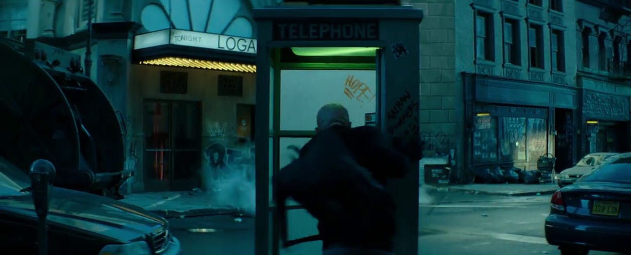 """The outside of the phone booth says """"Nathan Summers"""" (Cable's real name) and the inside says """"Hope."""""""