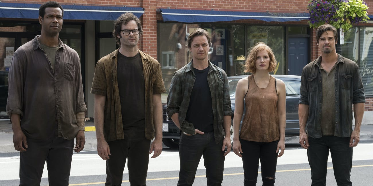 It Chapter Two James McAvoy Bill Hader Jessica Chastain