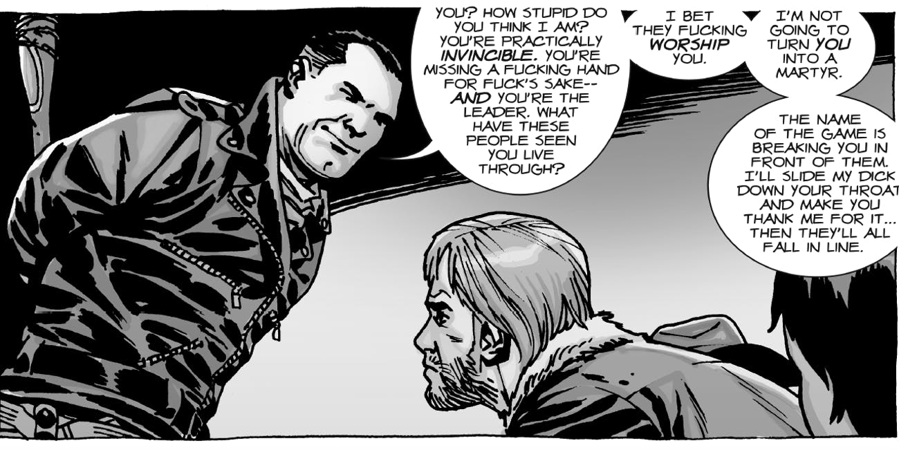 Negan In The Walking Dead Tv Show Compared To The Comics Inverse