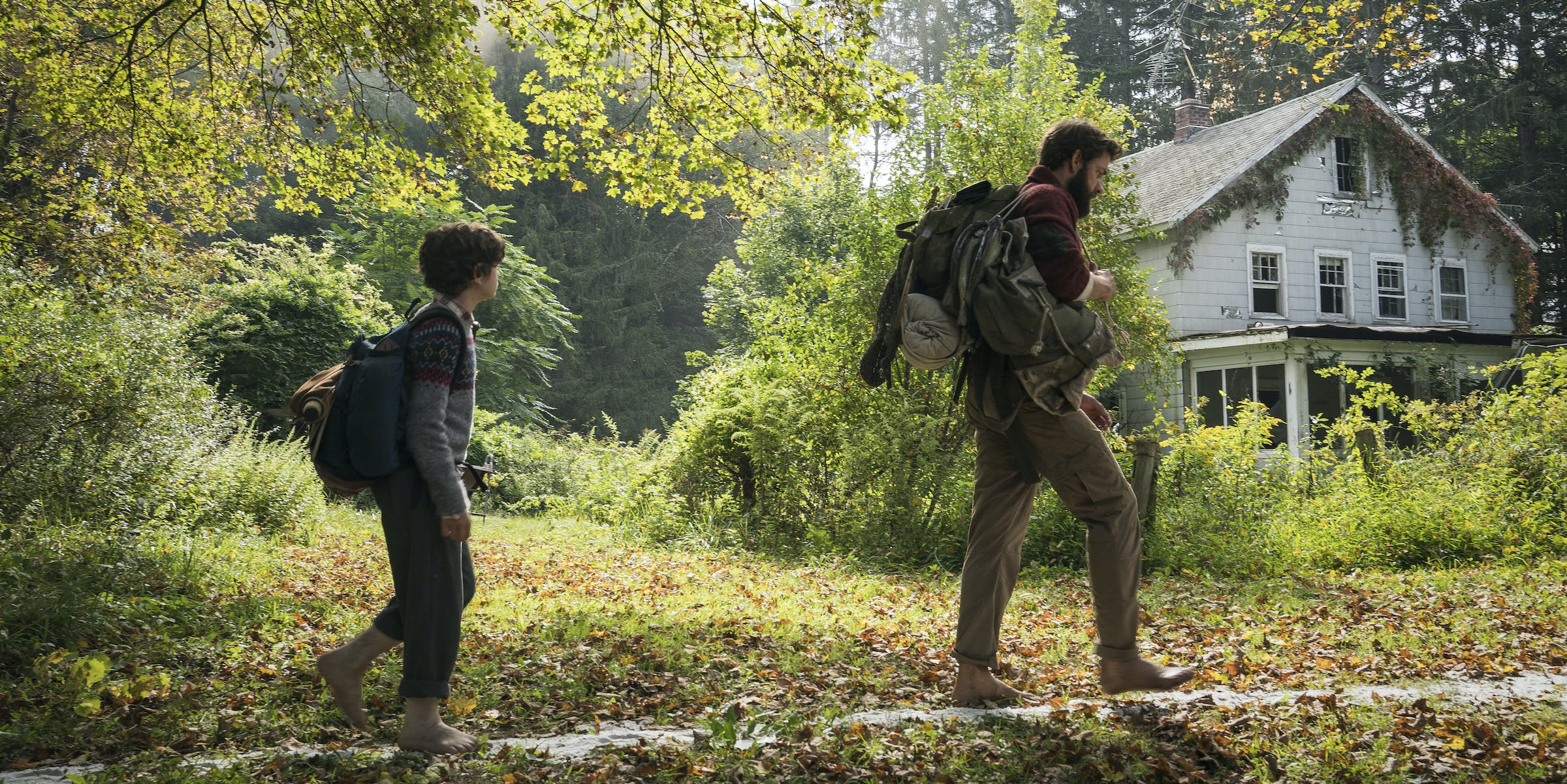 In 'A Quiet Place', the creature is SO scary you have to walk barefoot.
