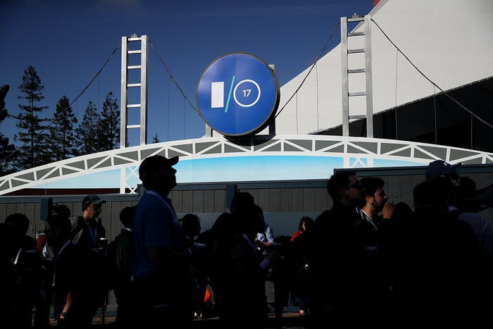Attendees  at the Google I/O 2017 Conference.