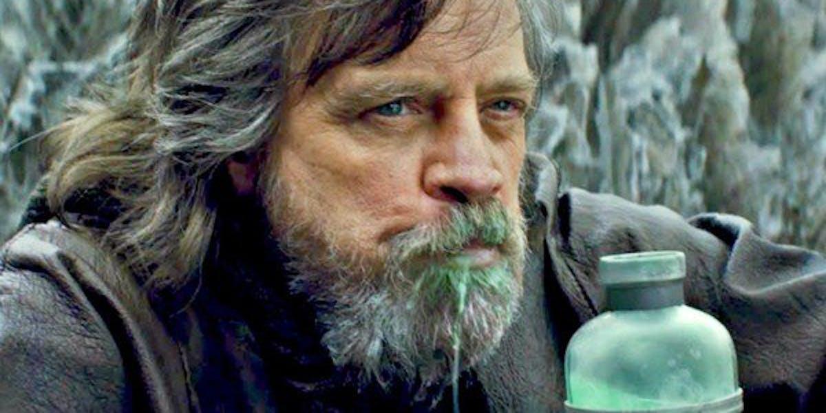 Luke Drinking Green Milk