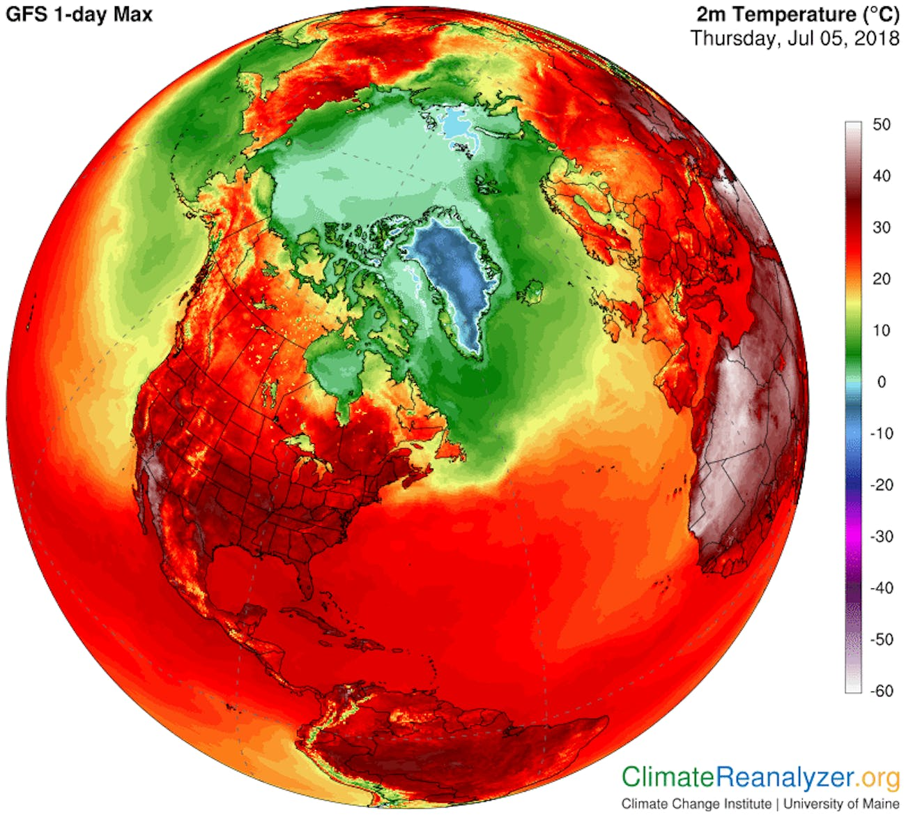 Climate Reanalyzer North America