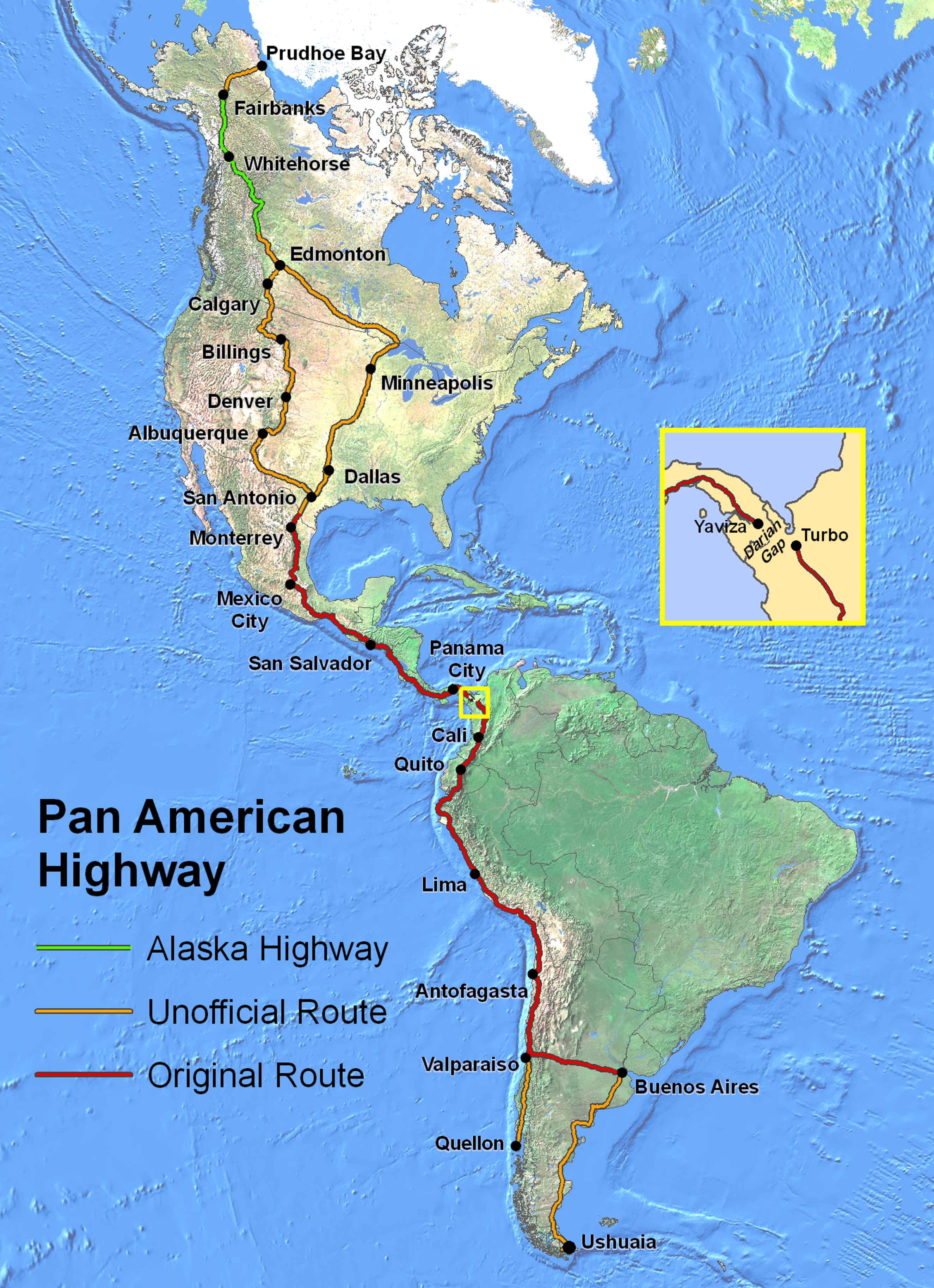This Map of the World's Longest Highway is the Ultimate Road Trip